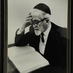 Marty Klein's grandfather, a cantor, studying the Torah.