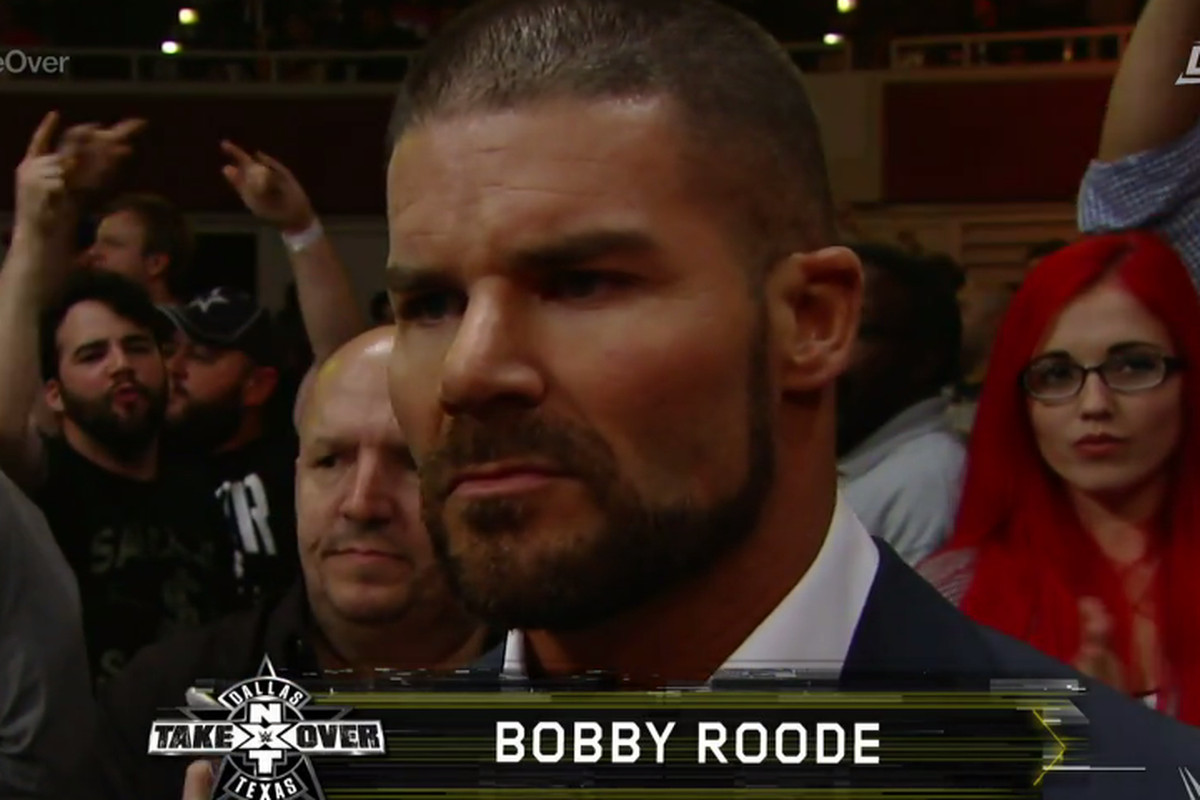 Pic: Bobby Roode ringside at NXT Takeover: Dallas - Cageside Seats