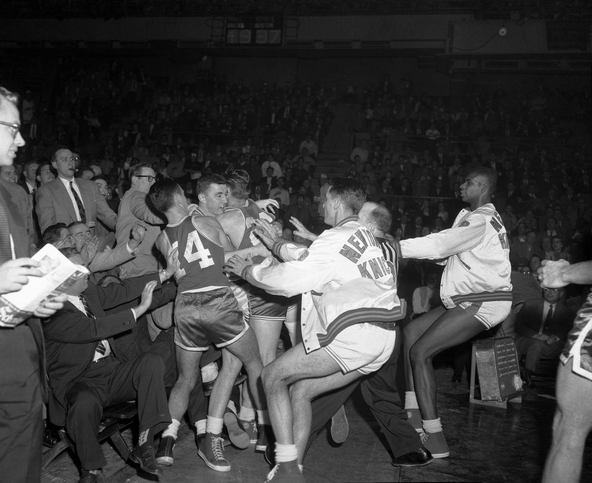 Brawl During Basketball Game