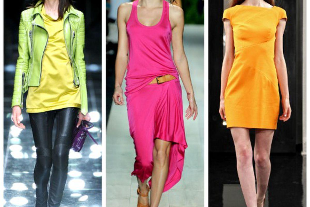"Spring looks from (l-r): Burberry Prorsum, Michael Kors, Victoria Beckham. Images via <a href=""http://Style.com"">Style.com</a>"