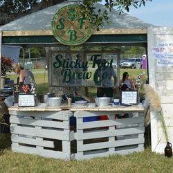Sticky Foot Brewing's award winning booth