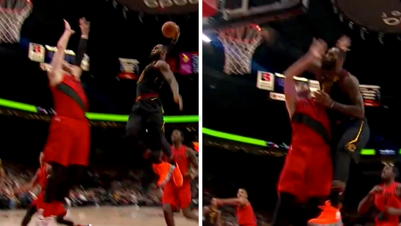 this dunk seriously might be lebron james best of his entire career