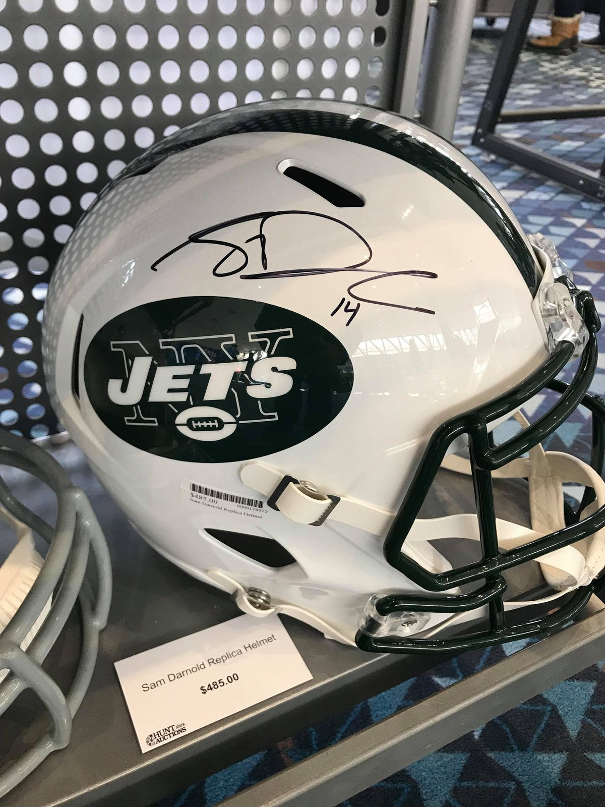 new product fc832 4a388 Sam Darnold's signed helmet costs more than Dan Marino's at ...