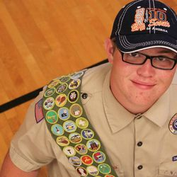 """Nate Christensen is 17 years old. He plays the trumpet in his high school marching band and loves playing """"Just Dance"""" on the family's Nintendo Wii. He took a good friend to the homecoming dance. He looks forward to graduating from high school. He completed 132 merit badges in the Boy Scouts of America scouting program. He also happens to be autistic."""