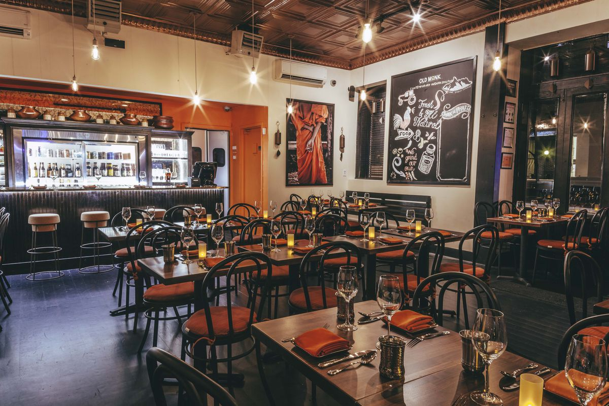The Dining Room At Old Monk Official Photo New Casual Indian Restaurants Around