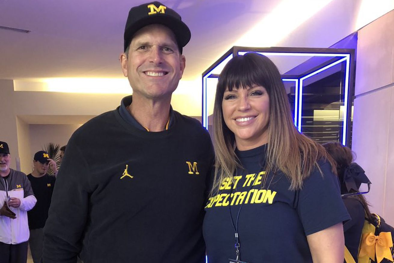 Sexual assault activist Brenda Tracy says Jim Harbaugh's the first coach in country committed to bringing her in every year