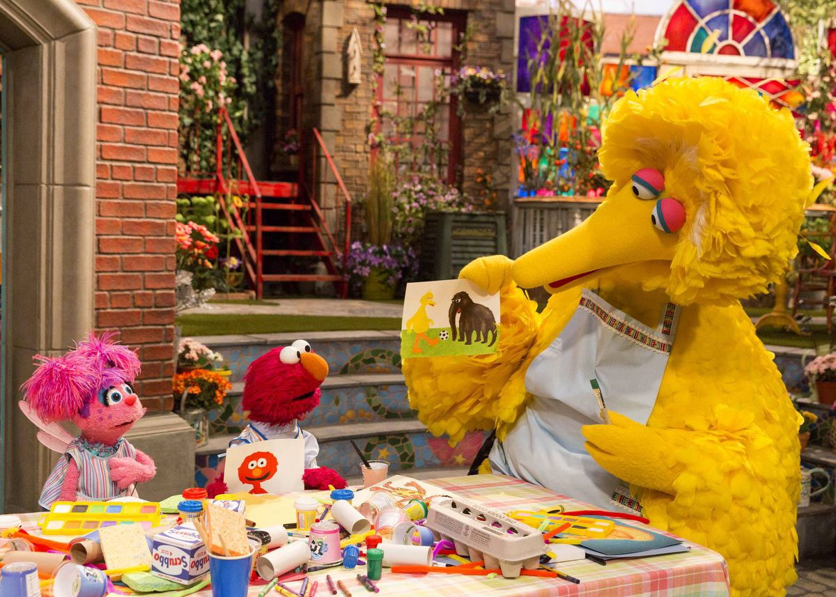 """Abby Cadabby (from left), Elmo and Big Bird in a scene from """"Sesame Street."""" The first episode of the popular children's show aired in the fall of 1969."""