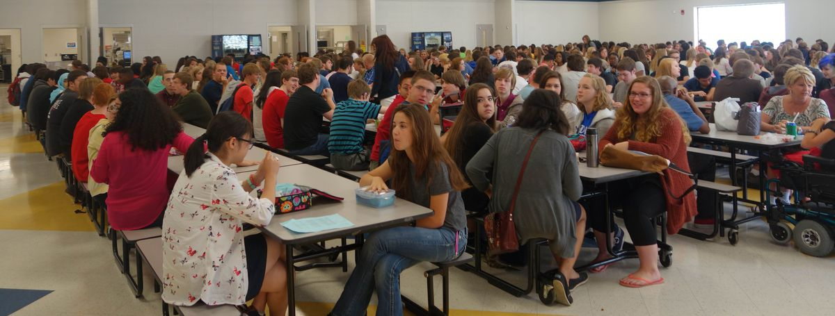 Last year students complained that the cafeteria food was bad and they are hoping that the new district will bring better quality food.