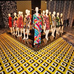 """Diane decided to name all of the wrap dress groups minutes before the exhibition. This colorful gang is called """"Geometric."""""""