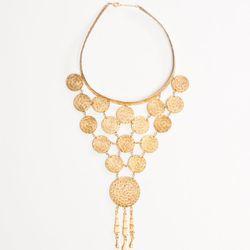 Woven Wire Bib Necklace (1970's), $265.