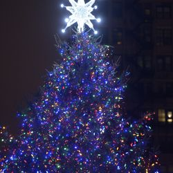 The City of Chicago's official Christmas tree lighting in Millennium Park, Nov. 16, 2018. | Victor Hilitski/For the Sun-Times
