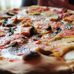 """Pizza from Grimaldi's by <a href=""""http://www.flickr.com/photos/chunso/8437950173/in/pool-eater"""">Chun's Pictures</a>"""
