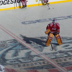 Holtby at Center Ice