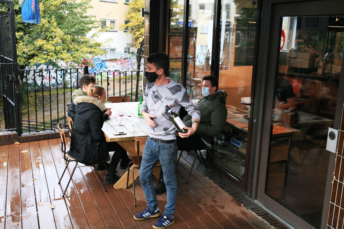 General manager Massi Gregori on the terrace at Ombra in October