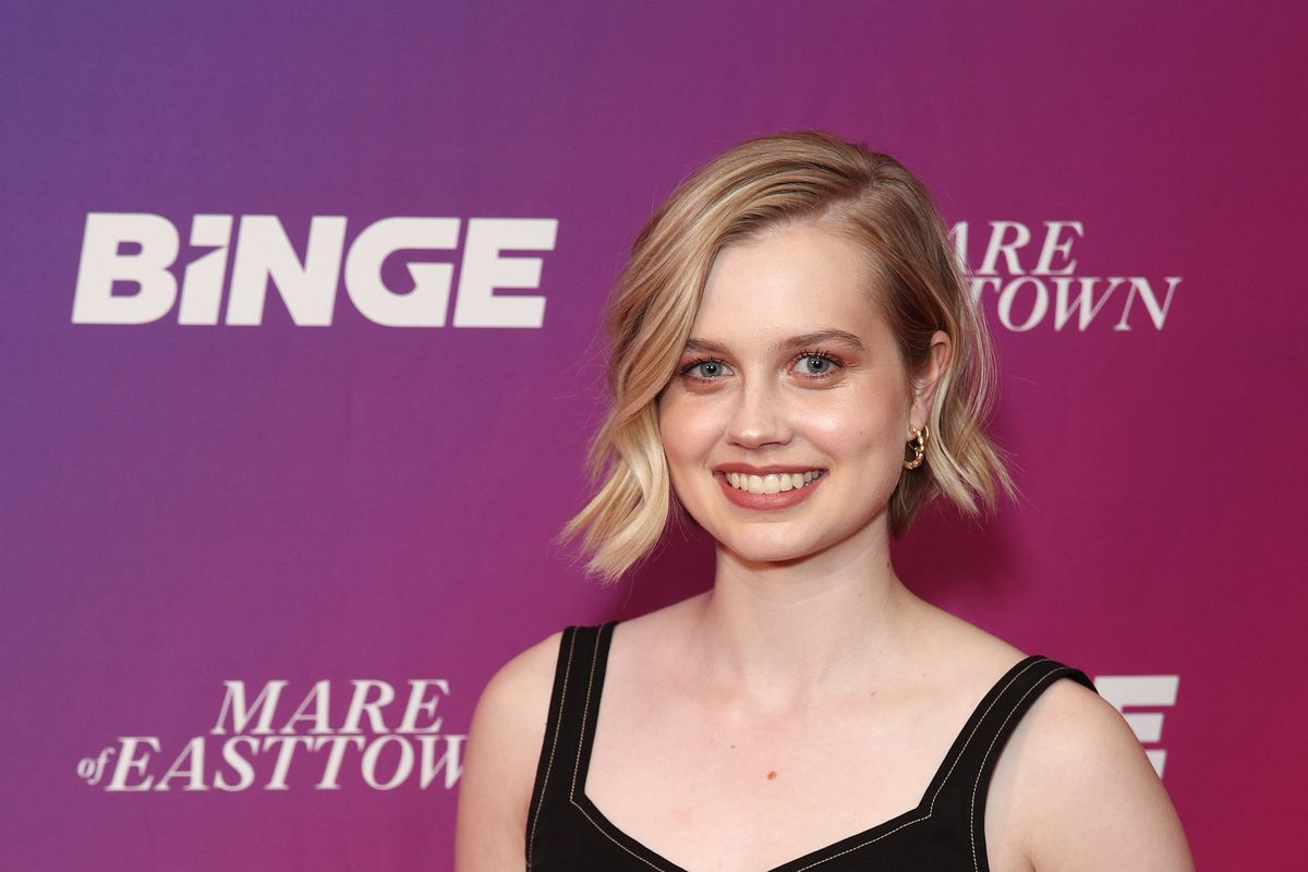 Angourie Rice attends the Australian premiere of Mare of Easttown at Cremorne Orpheum on April 14, 2021 in Sydney, Australia.