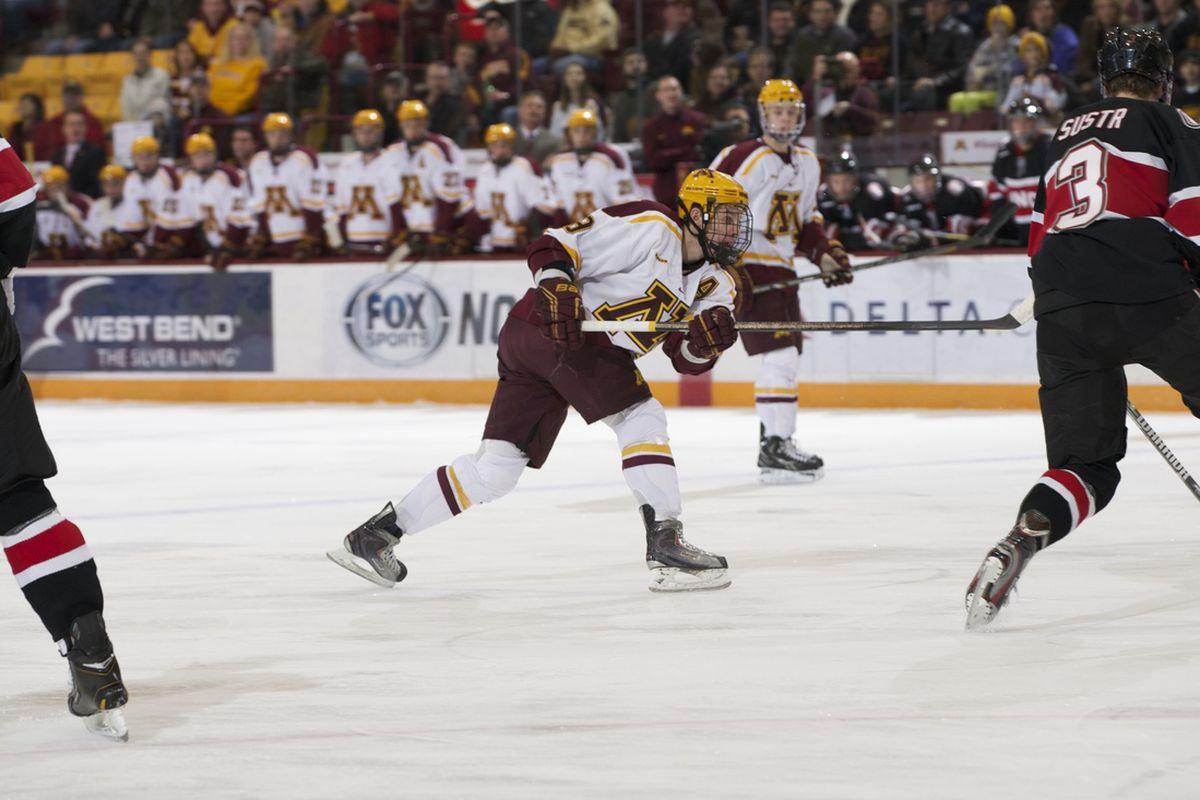 University of Minnesota junior forward Erik Haula
