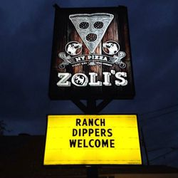 """<em>Zoli's capitalized on Cane Rosso's infamous <a href=""""http://dallas.eater.com/archives/2014/03/03/reddit-has-a-field-day-with-cane-rossos-lack-of-ranch.php"""">Ranchgate</a>.</em>"""