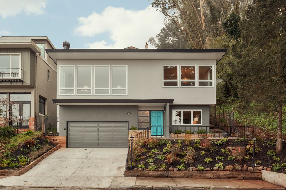 Midcentury modern in clarendon heights asks 2 4 million for Modern homes san francisco