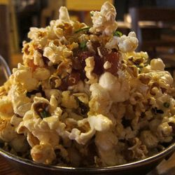 """Maple Bacon Popcorn from Alobar by <a href=""""http://www.flickr.com/photos/scottlynchnyc/8682760574/in/pool-eater"""">Scoboco</a>"""