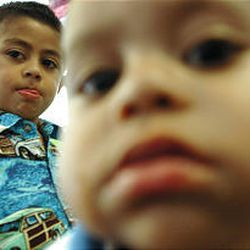 Four-year-old Miguel, left, and Emanuel, 1, are first-generation Americans whose parents emigrated from Guadalajara, Mexico.