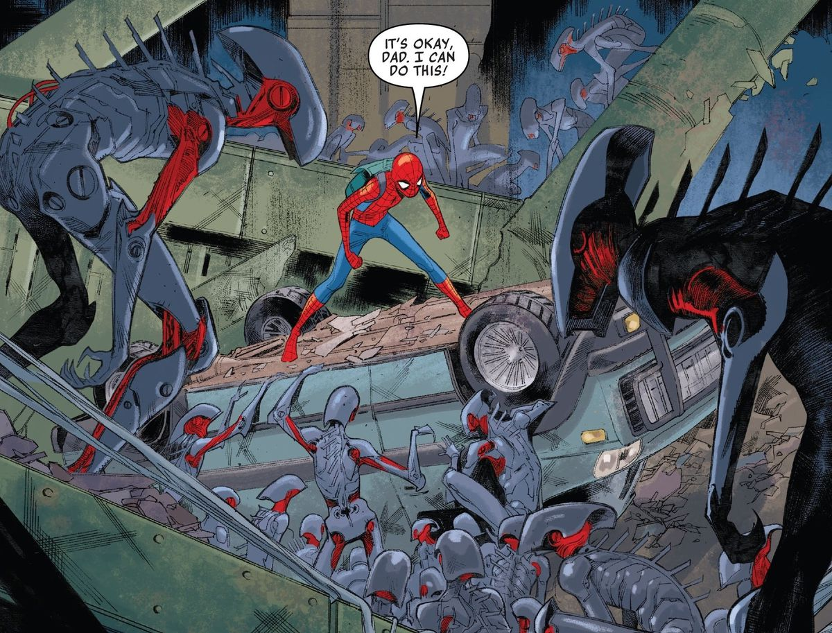 Spider-Man fights Cadaverous' minions in Spider-Man #4, Marvel Comics (2020).