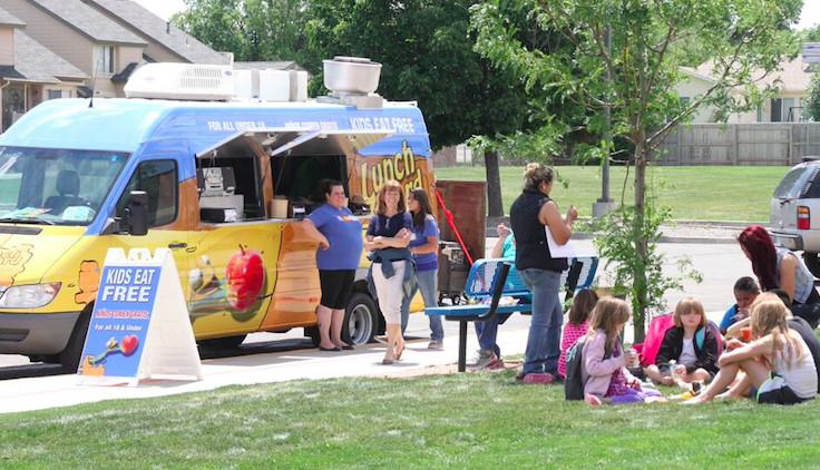 """The Mesa County Valley district launched a mobile meals program this summer with $58,000 from the Western Colorado Community Foundation. The """"Lunch Lizard"""" van came about after three of five district schools stopped offering summer meals because they could no longer pay for accompanying activities."""