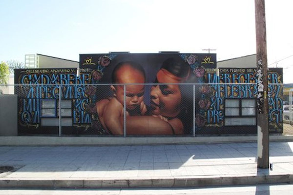 """This street mural is actually an ad for diapers in disguise. Image via <a href=""""http://blogs.laweekly.com/stylecouncil/2011/03/retna_el_mac_mural.php"""">LAWeekly</a>."""