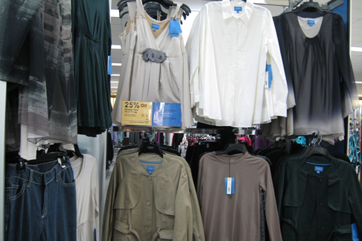 """Vera Wang's Simply Vera line at Kohl's in New Jersey <a href=""""http://racked.com/archives/2008/01/07/vera_wang_for_kohls_a_whole_ne.php"""">back in 2008</a>"""