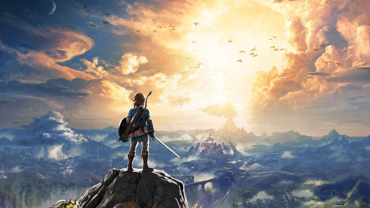 The Legend of Zelda: Breath of the Wild - Link on rock artwork