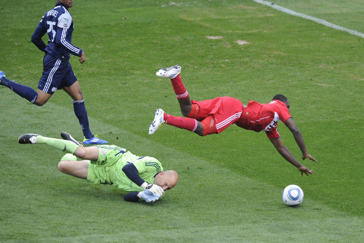 Able to leap bald keepers in a single bound!  Patrick Nyarko!