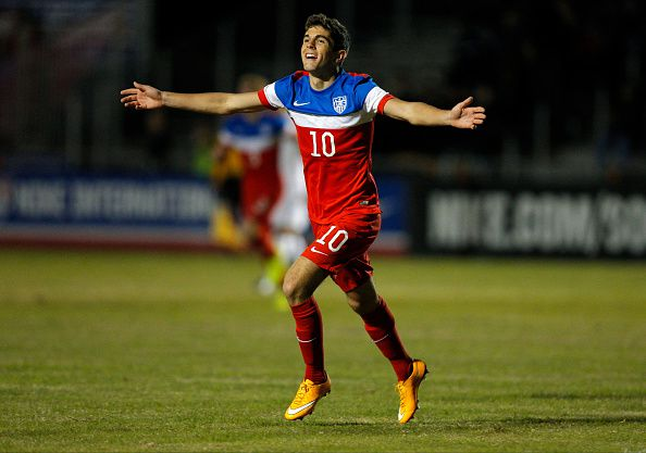 Pulisic in action for the US U-17s