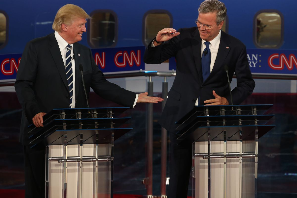 Trump and Bush, being just a little awk.
