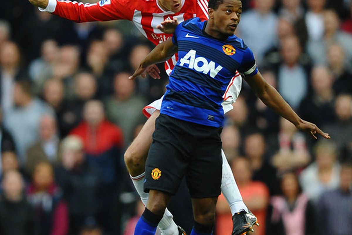 United should try to avoid Peter Crouch vs. Patrice Evra aerial duels on Tuesday
