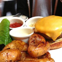 """Roberta's cheeseburger by <a href=""""http://www.flickr.com/photos/polsia/8476030035/in/pool-eater/"""">Polsia</a>."""