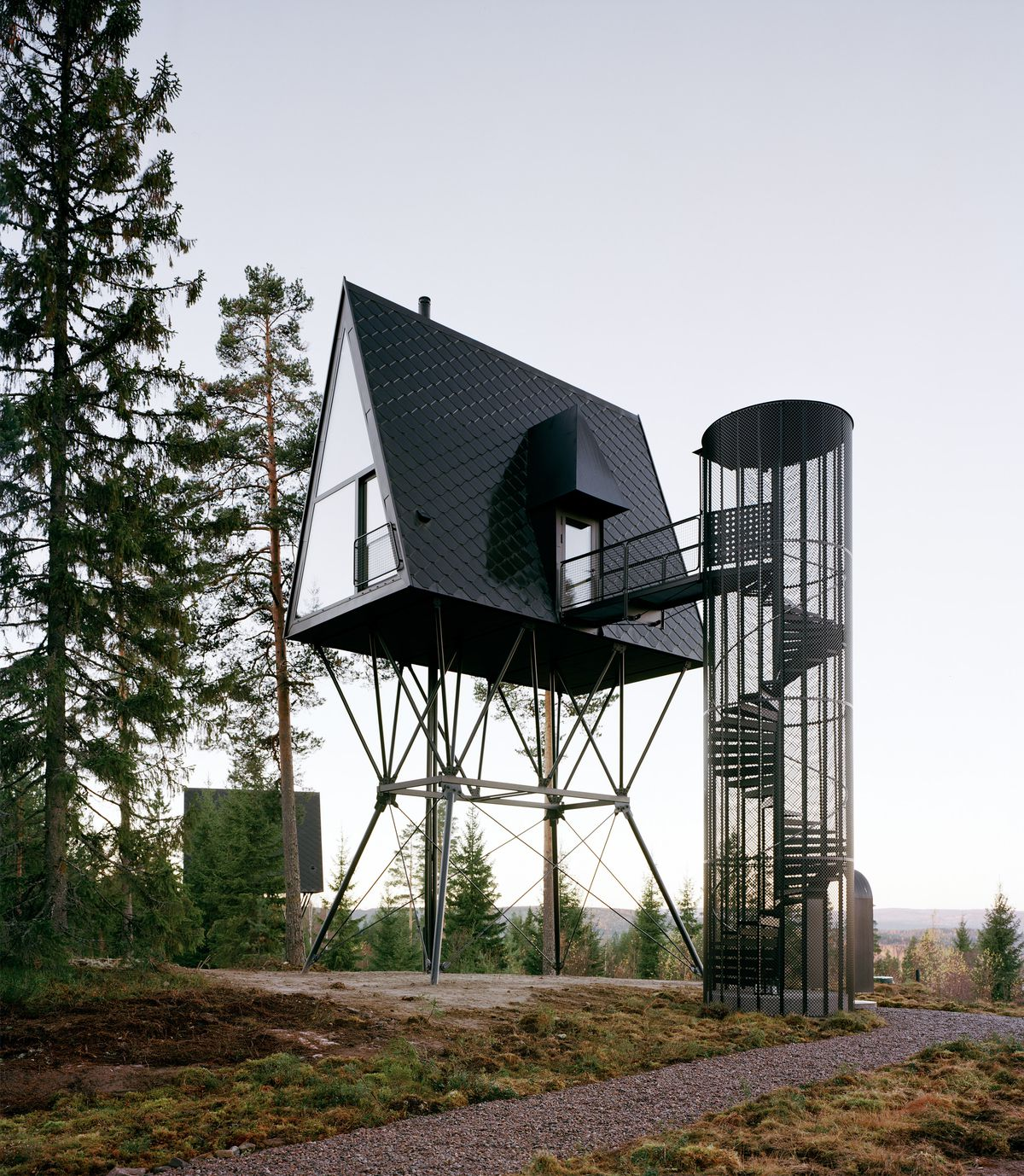 Cottage On Stilts By Andersson Wise Architects: Treetop Cabins In Norway Like Birdhouses For People