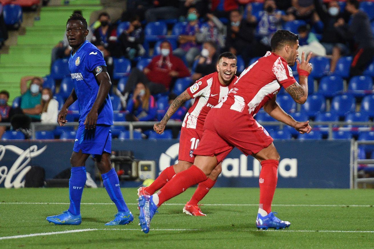 Atlético return to the Suárez Zone, rally past 10-man Getafe