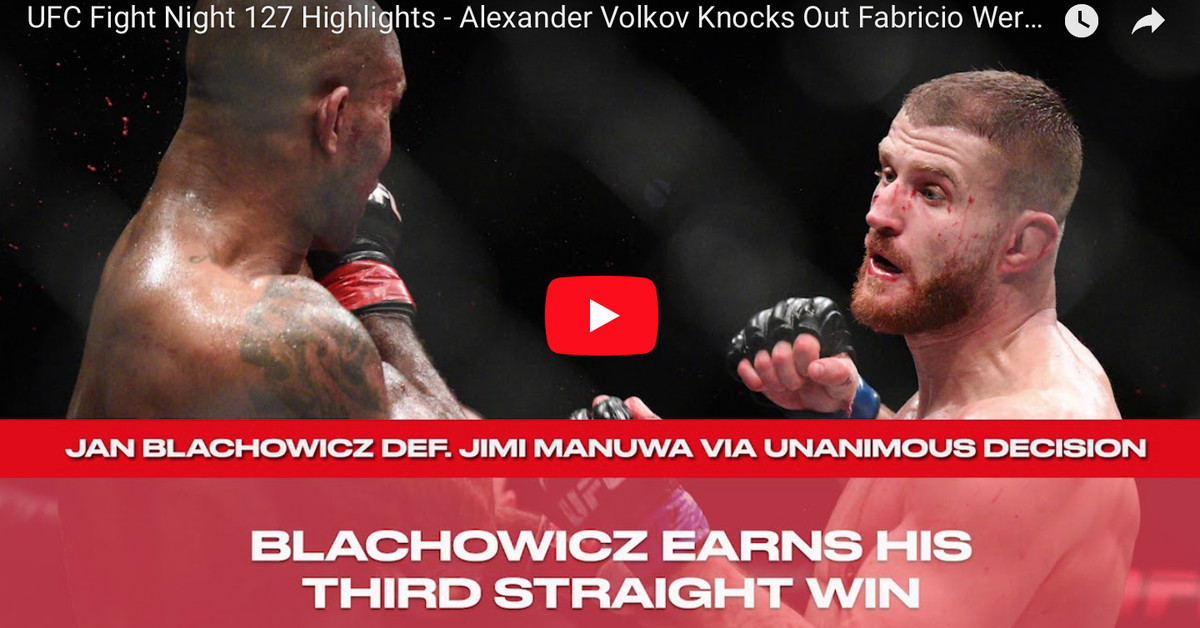 Video: UFC Fight Night 127 highlights from London