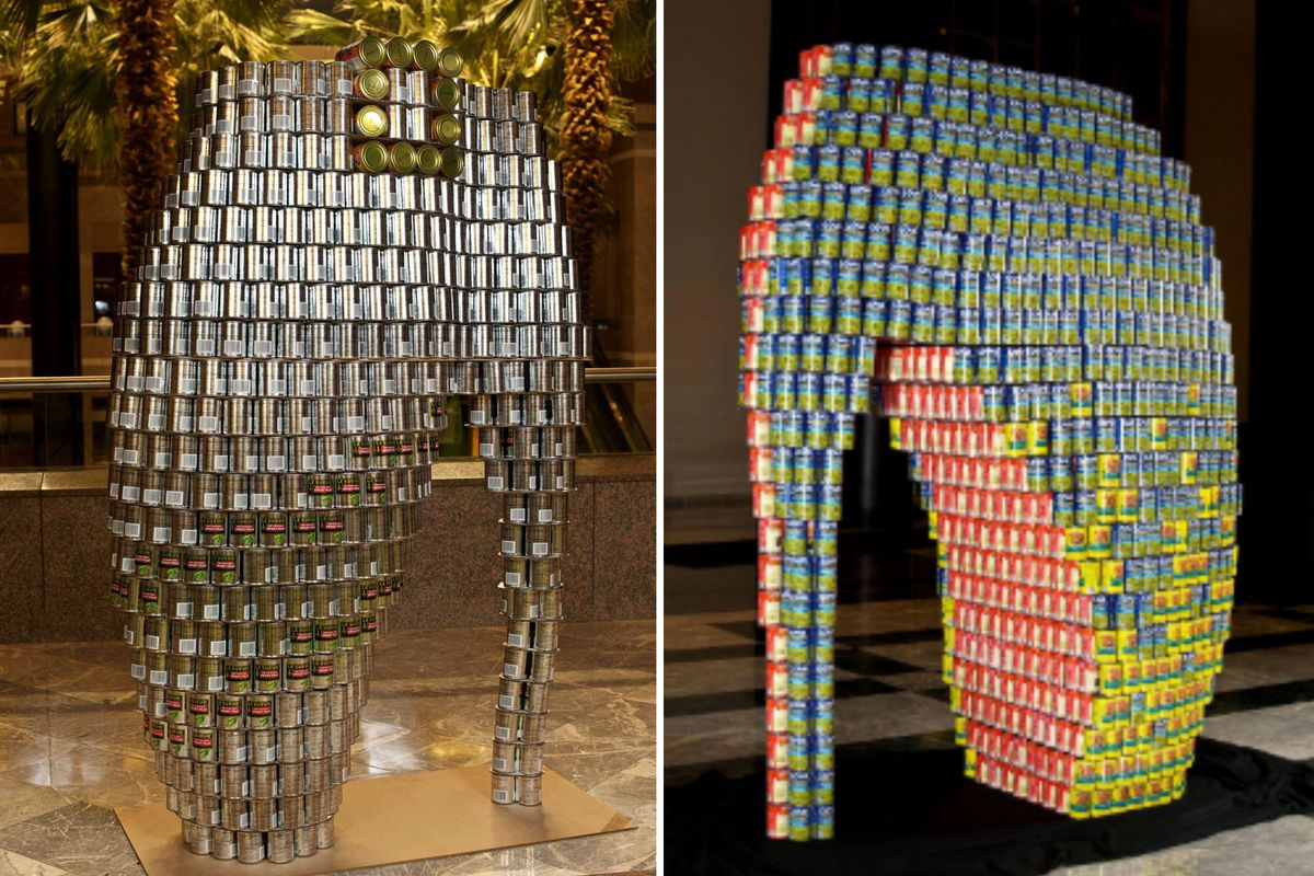 Photo credit: Canstruction/Kevin Wick