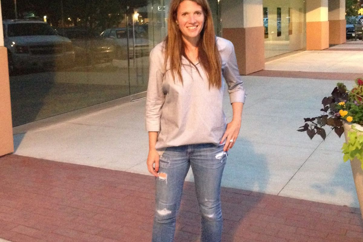Jen Ratan, outside her new Plaza digs. Image via Double R/Facebook