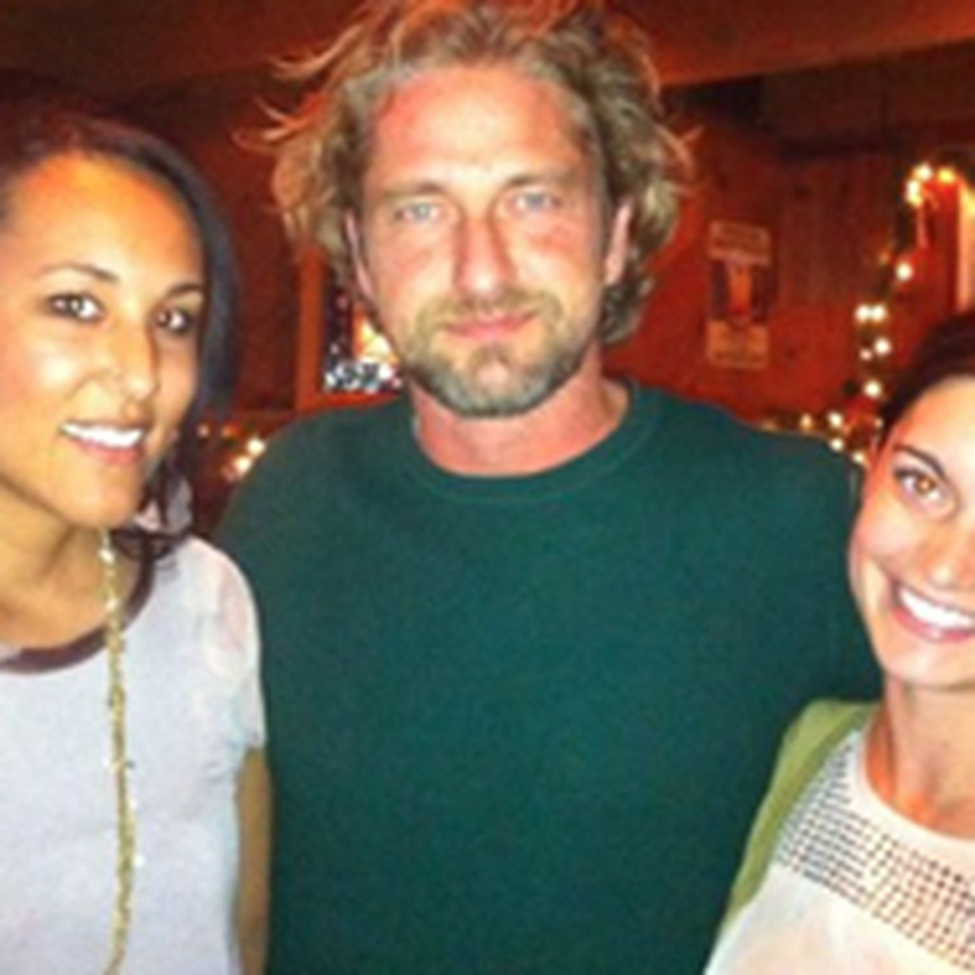 Company Butler gerard butler likes seafood, eats lots of it at half moon