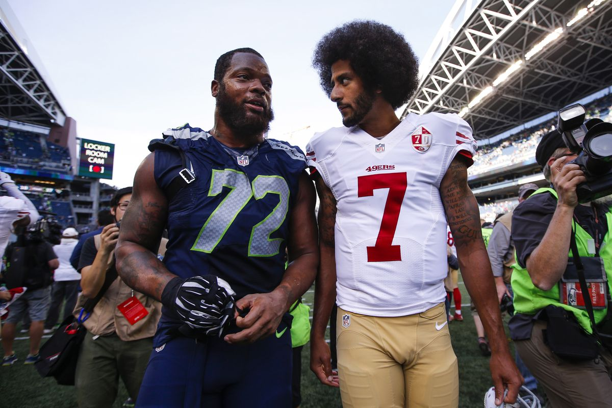 8f8bc54fad8 Michael Bennett believes Seahawks would be 'perfect place' for Colin  Kaepernick