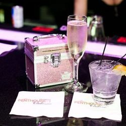 All of the dancers carry this little pink case purse. It's for personal items, and the $$$.