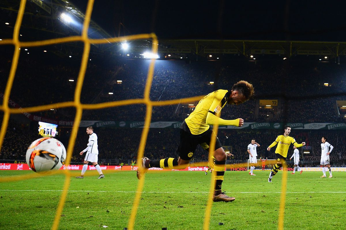 Pierre-Emerick Aubameyang has found the back of the net 17 times in the Bundesliga this season.