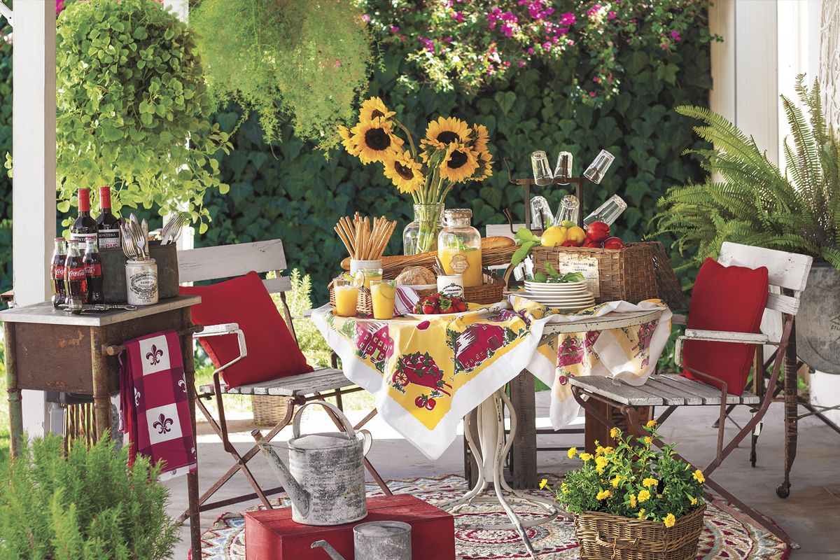 Create A French Country Patio This