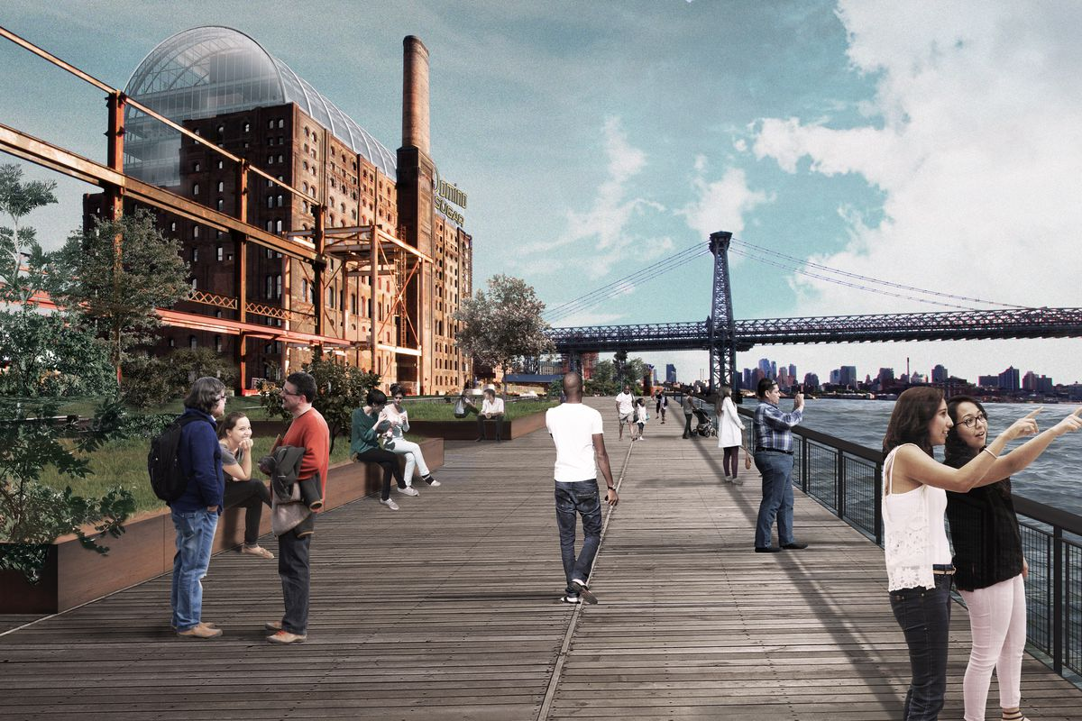 Domino sugar refinery redesign approved by landmarks commission