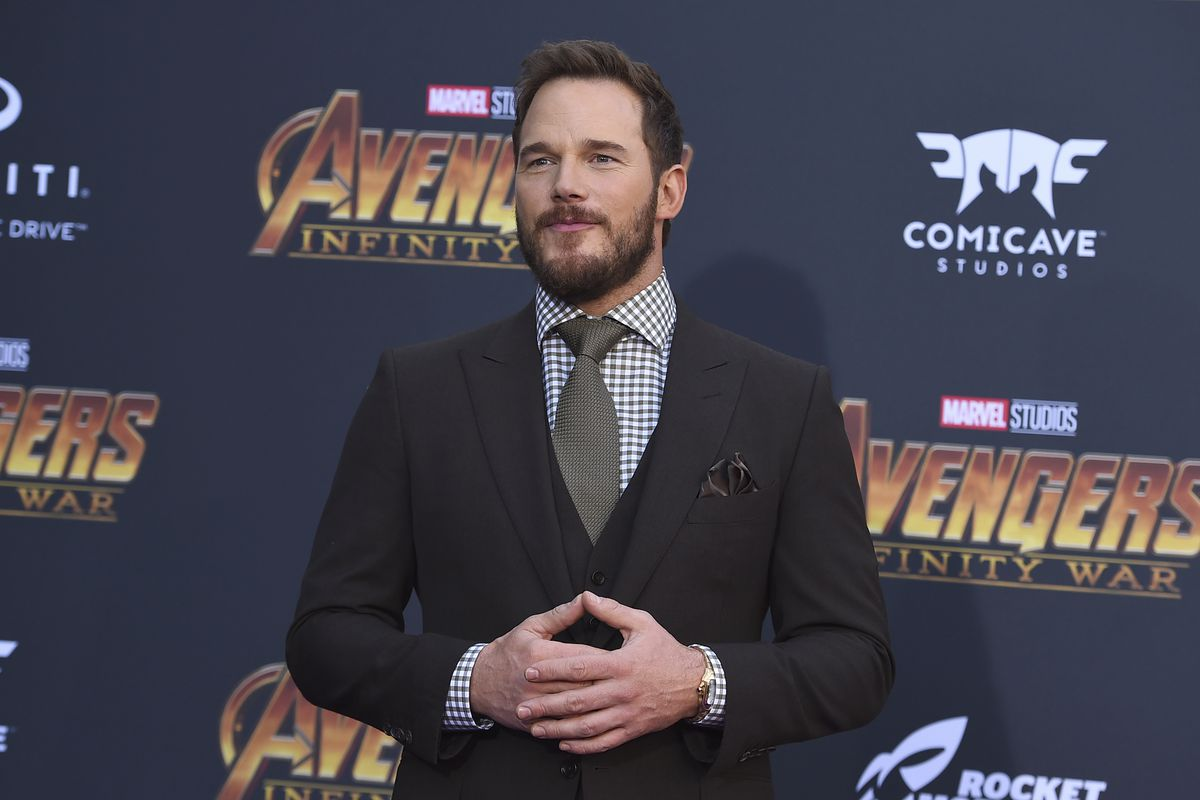 """Chris Pratt arrives at the world premiere of """"Avengers: Infinity War"""" on Monday, April 23, 2018, in Los Angeles."""