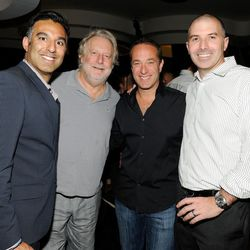 Rehan Choudry, Jonathan Waxman, Bruce Bromberg and Drew Levinson at Nobu. Photo: David Becker