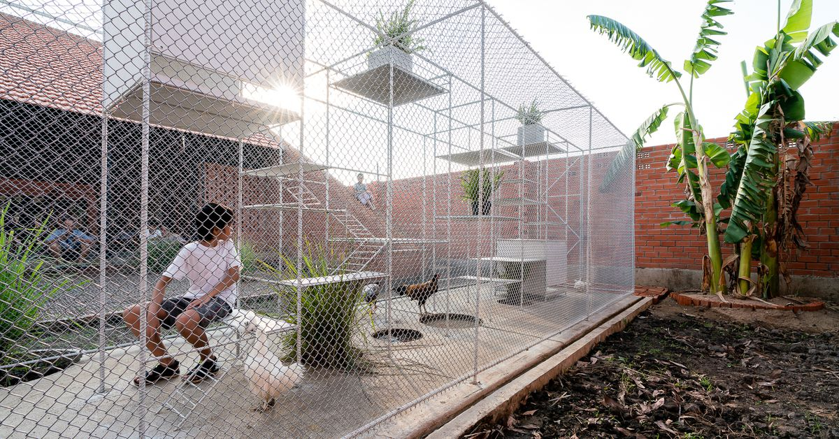 Fancy Chicken Coop Pulls Double Duty As A Jungle Gym Curbed