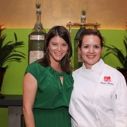 Diego executive chef Christina Olivarez and Food & Wine's Gail Simmons at the tequila tasting event for third annual Food & Wine All-Star Weekend.