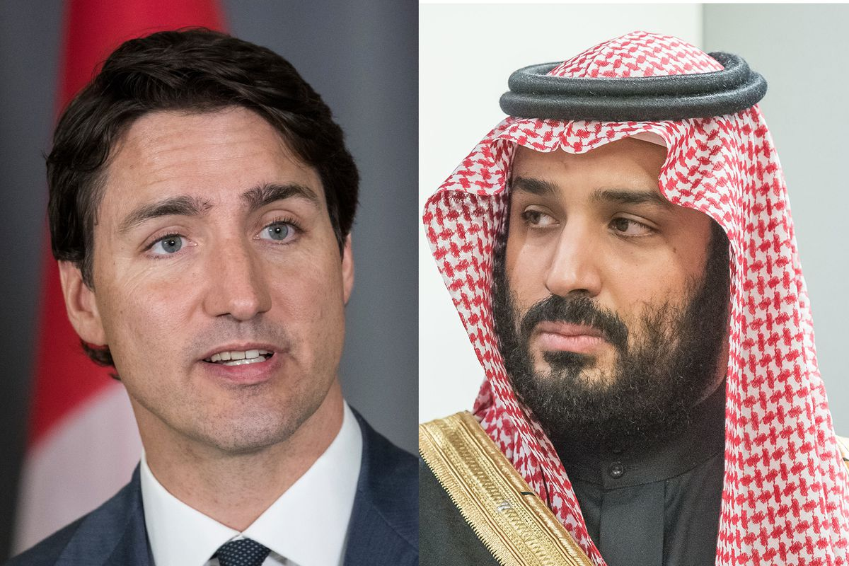 Image result for Justin Trudeau, saudi crown prince, photos